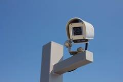 Lämnat vända mot för säkerhetskamera Arkivfoton