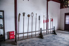 Län av Hubei Badong länrekonstruktion Royaltyfri Fotografi
