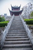 Län av Hubei Badong länrekonstruktion Royaltyfria Bilder
