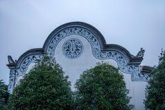 Län av Hubei Badong länrekonstruktion Arkivbild