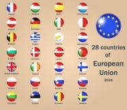 Länder av EU Royaltyfria Foton