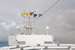 länder kryssar omkring europeanflaggaeyeliner Fotografering för Bildbyråer