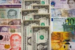 länder som delar pengar Fotografering för Bildbyråer
