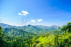 Ländliche Berglandschaft durch Minca in Kolumbien lizenzfreie stockbilder