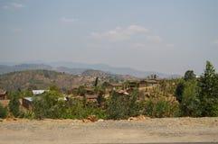 Ländliche Dörfer mit Hügel-Ansichten, Ruanda Lizenzfreie Stockbilder