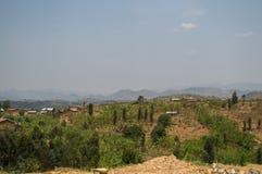 Ländliche Dörfer mit Hügel-Ansichten, Ruanda Lizenzfreie Stockfotografie