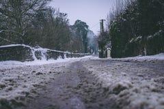 Ländliche Einstellung im Dorf von Carrignavar nach Sturm Emma, alias dem Tier vom Osten, der Irland schlug Lizenzfreies Stockbild