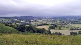 Ländliche englische Szene in den Cotswold-Hügeln Gloucestershire Stockfotografie