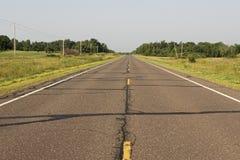 Ländliche Fahrbahn, Wisconsin stockfoto