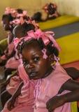 Ländliche haitianische Schulkinder stockfotos