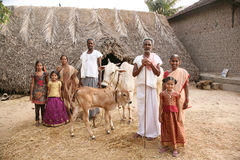 Ländliche indische Familie Lizenzfreie Stockfotografie