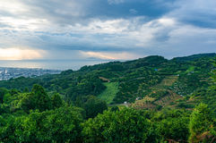 Ländliche Japan-Landschaft Lizenzfreie Stockfotos