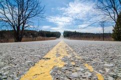 Ländliche Land-Straße Ontario Kanada lizenzfreie stockfotos