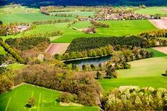 Ländliche Landschaft der Kunst Feld und Gras Lizenzfreie Stockbilder