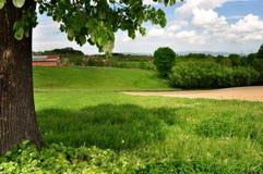 Ländliche Landschaft der Sommerzeit Lizenzfreie Stockfotos