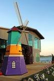 Ländliche Landschaft der Windmühle Stockbild