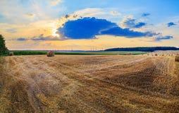 Ländliche Landschaft des Herbstes Stockfoto