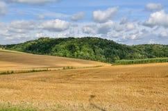 Ländliche Landschaft des Sommers Lizenzfreie Stockfotos
