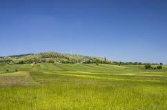 Ländliche Landschaft im Frühjahr Stockbilder