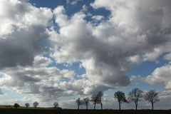 Ländliche Landschaft nahe Moritzburg, Deutschland Lizenzfreies Stockbild