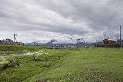 Ländliche Landschaft in Ost-Sibirien Stockfotos