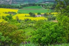 Ländliche Landschaft Süd-Frankreich Stockbilder