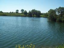Ländliche Landschaft und Ackerland Stockfoto