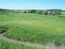 Ländliche Landschaft und Ackerland Stockbild