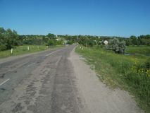 Ländliche Landschaft und Ackerland Stockfotos