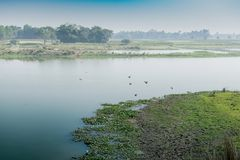 Ländliche Landschaft von Indien Stockfoto