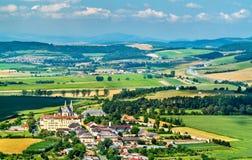 Ländliche Landschaft von Slowakei an Spis-Schloss lizenzfreies stockfoto