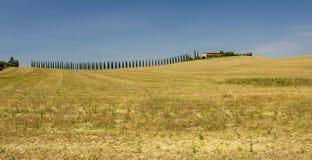 Ländliche Landschaften von schöner Toskana, Italien Stockfotos