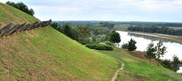 Ländliche Landschaftsansicht der Ackerlandlandschaft Lizenzfreie Stockbilder