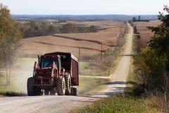 Ländliche landwirtschaftliche Landschaft von U S mittelwesten Lizenzfreie Stockfotos