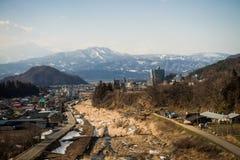 Ländliche Stadt in Japan Stockfotos