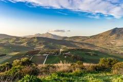 Ländliche Szene in der Provinz von Trapani in Sizilien stockbild