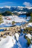 Ländliche Szene des Winters Stockbild