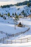 Ländliche Szene des Winters Stockfotos