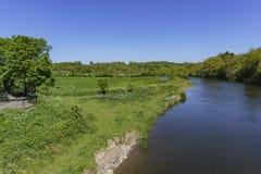 Ländliche Szene nahe Boyne-Tal - Bru Na Boinne lizenzfreie stockfotografie
