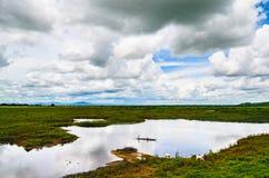 Ländliche Szene und Landschaft nahe Battambang, Kambodscha Lizenzfreie Stockfotos