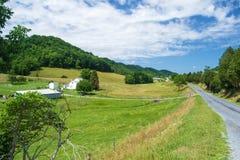 Ländlicher Bauernhof in Virginia Stockbild