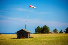 Ländlicher Flugplatz auf Olkhon-Insel Stockfotos