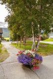 Ländlicher Platz in Norwegen Lizenzfreies Stockbild