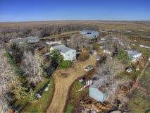Ländliches Ackerland South Dakota im Vorfrühling Stockfotografie