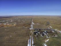 Ländliches Ackerland South Dakota im Vorfrühling Stockfoto