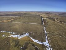 Ländliches Ackerland South Dakota im Vorfrühling Lizenzfreie Stockfotografie