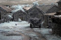 Ländliches altes Dorf Stockfotos