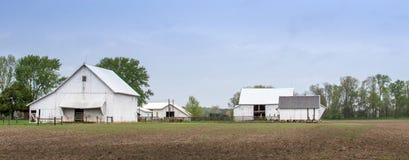 Ländliches Bauernhofpanorama in Indiana USA lizenzfreies stockbild