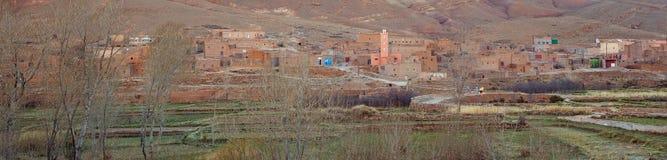 Ländliches Berberdorf in Marokko Lizenzfreies Stockbild