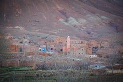 Ländliches Berberdorfleben in Marokko Lizenzfreies Stockbild